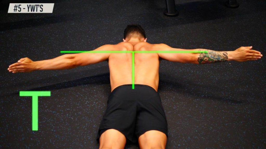 How the T position to strengthen your back muscles