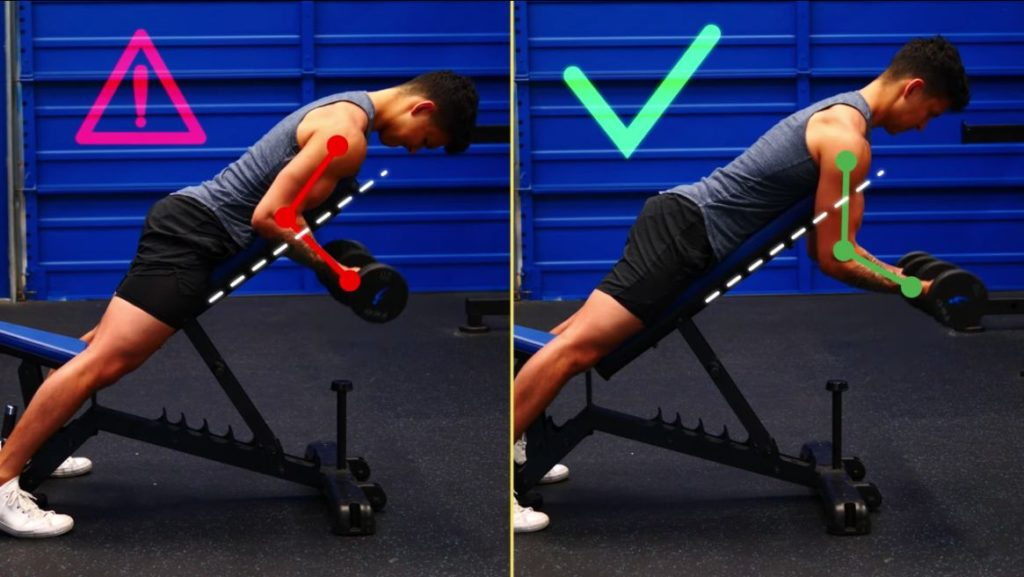 Resist the urge to let your elbows come back to your body as you lift the weight