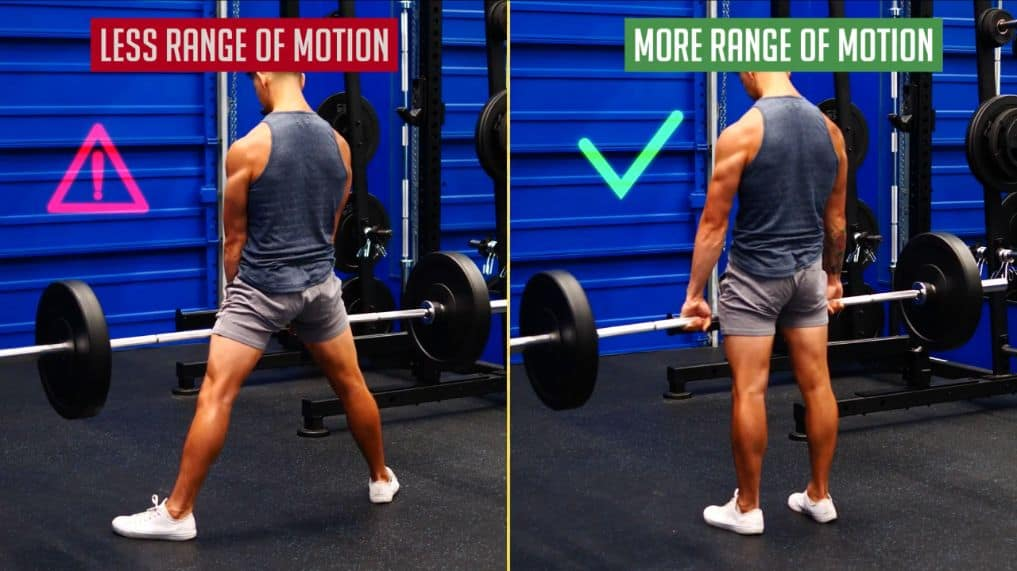 A narrower feet stance for your deadlifts gives you more range of motion