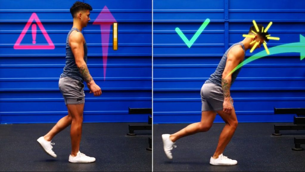 Think about lunging forward instead of lunging up during your butt workout