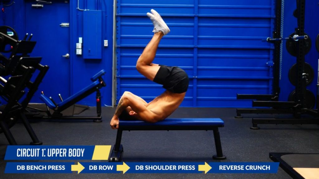 Circuit 1 to burn more calories through lifting weights