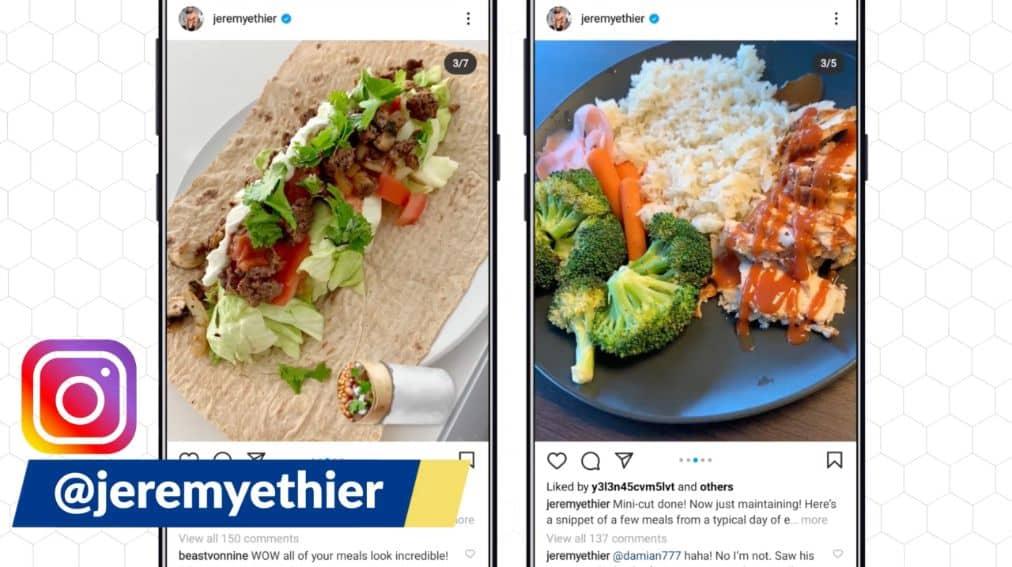 Meal plans on Instagram